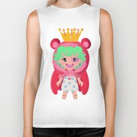 one piece Biker Tanks featuring Sugar from one piece by Dama Chan