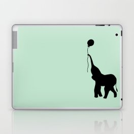 Elephant with Balloon - Mint Laptop & iPad Skin