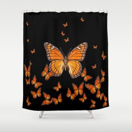 WORLD OF MONARCH BUTTERFLIES Shower Curtain