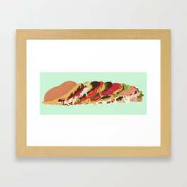 Burgers! Framed Art Print