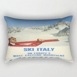 Vintage poster - Ski Italy Rectangular Pillow