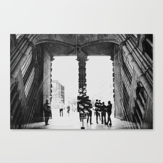 black and white cathedral Canvas Print