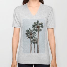 Palm Trees, Miami Summer Vibes, Minimalist Art Print, Minimal Pastel Colored Coconut Trees, Summer Time Poster, Palm Tree Print, Beach Vibes, Home Decor, Wall Art Print Unisex V-Neck