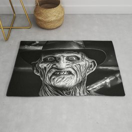 Freddy -  Black and White Rug