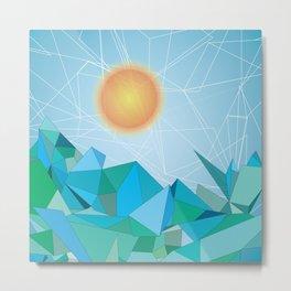 Landscape - geomertic work Metal Print