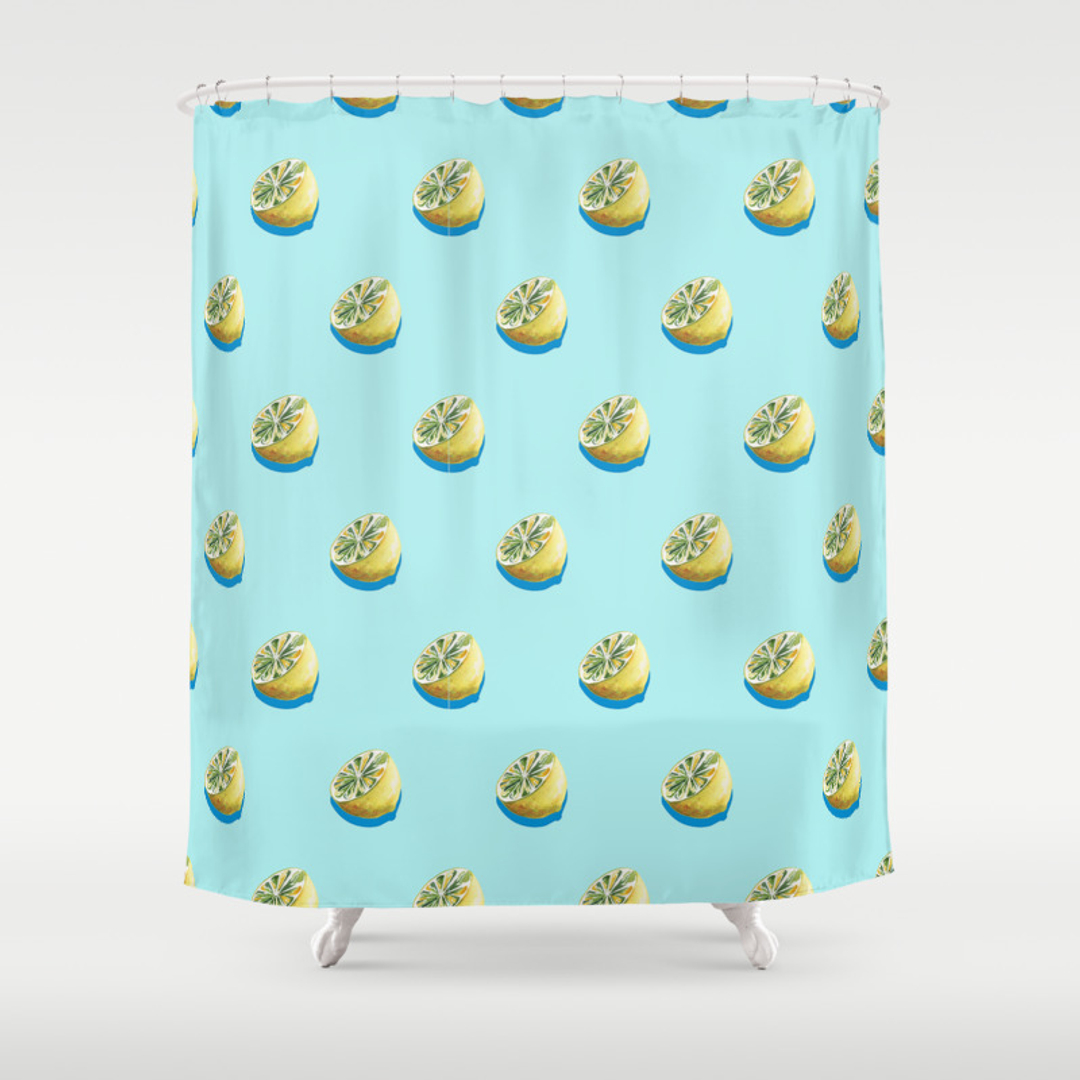 Yellow and blue shower curtain - Yellow And Blue Shower Curtain 31