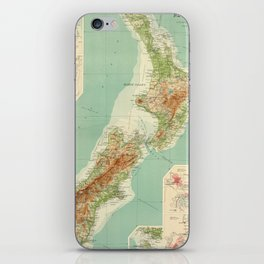 Vintage Map of New Zealand (1922) iPhone Skin