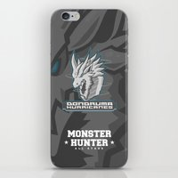 monster hunter iPhone & iPod Skins featuring Monster Hunter All Stars - The Dondruma Hurricanes by Bleached ink