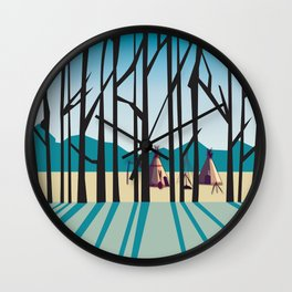 Sleepy Mountains Wall Clock