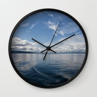 oslo Wall Clocks featuring Infinite: Oslo Harbor by Patti Toth McCormick