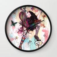 sandman Wall Clocks featuring Delirium, The Sandman by Anguiano Art
