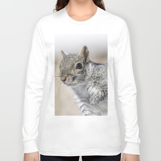 Wet paw Squirrel Long Sleeve T-shirt