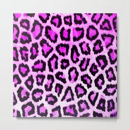 Hot Pink Light Leopard Print Cheetah Animal Pattern Spots Metal Print