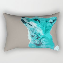 FOX, BLUE FOX, FOX, BLUE FOX, FOX FACE, FOX IN BLUE, WINTER FOX, LITTLE FOX, FOX IN SNOW Rectangular Pillow
