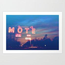 Tara Motel is Open for Business Art Print