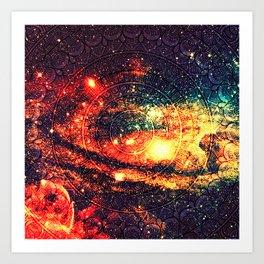 Cosmic mandala #8 Art Print