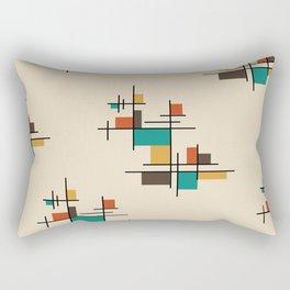 Mid Century Modern Geometric Colorful Rectangular Pillow