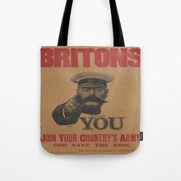 Vintage poster - British Military Tote Bag