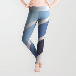 Blue Color Drift Leggings