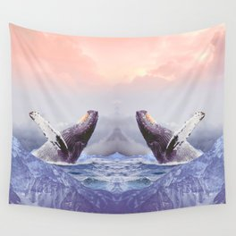 Mount Whales Wall Tapestry