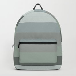 Green pastel colours geometric horizontal lines pattern for home decoration Backpack