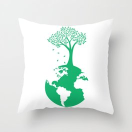 Tree Planet Earth Day product Throw Pillow