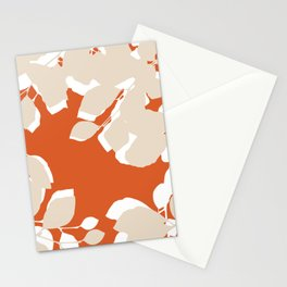 leaves rust and tan Stationery Cards