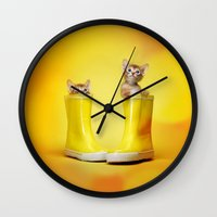kittens Wall Clocks featuring KITTENS by I Love Decor