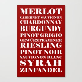 wines, red Canvas Print