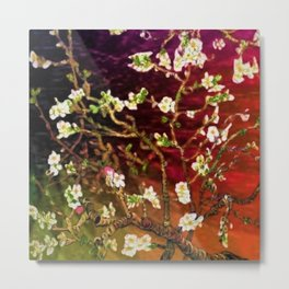 Vincent van Gogh Blossoming Almond Tree (Almond Blossoms) Multi-color Metal Print