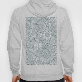Abstract Floral Pattern Hoody