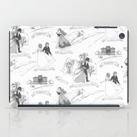 pride and prejudice iPad Cases featuring Pride and Prejudice Toile by Aimee Steinberger