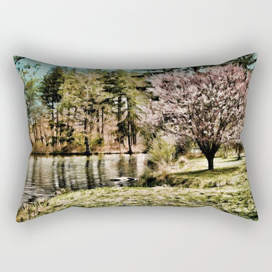 Spring Time In New England Rectangular Pillow