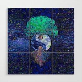 Tree of Life Yin Yang Earth Space Wood Wall Art