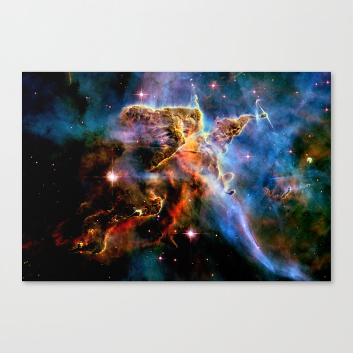 GAlAxY : Mystic Mountain Nebula Canvas Print