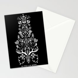La Vie + La Mort: White Ink Stationery Cards