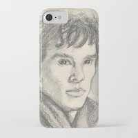 sherlock iPhone & iPod Cases featuring Sherlock by Pendientera