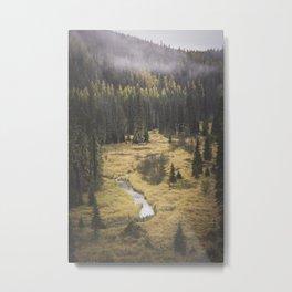 Meander Metal Print