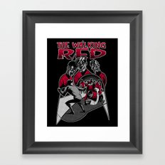 The Walking Red Framed Art Print