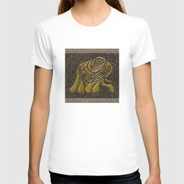 African elephant with ethnic motives T-shirt