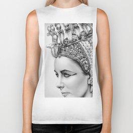 Elizabeth Taylor Cleopatra Portrait Biker Tank