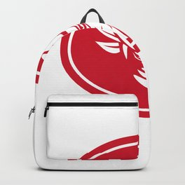 Cowboy Outlaw Oval Mascot Backpack