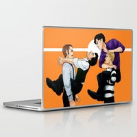 johnlock Laptop & iPad Skins featuring Sherlock vs. Holmes by Krusca