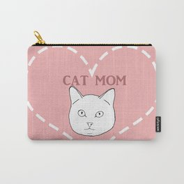 Proud Cat Mom Carry-All Pouch