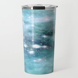 nEbulA Aqua Teal Sparkle Travel Mug