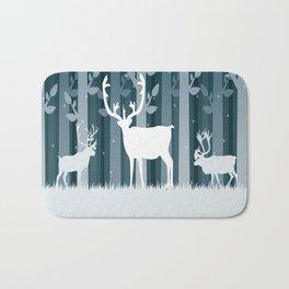 Snow Caribou Bath Mat