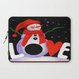 Snowman Love Laptop Sleeve