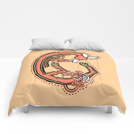 Celtic Fox Letter C Comforters