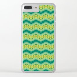 Grass Wave Clear iPhone Case