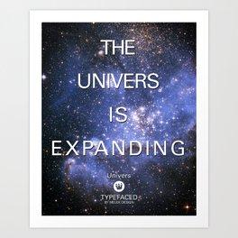 Typefaced — Univers Art Print
